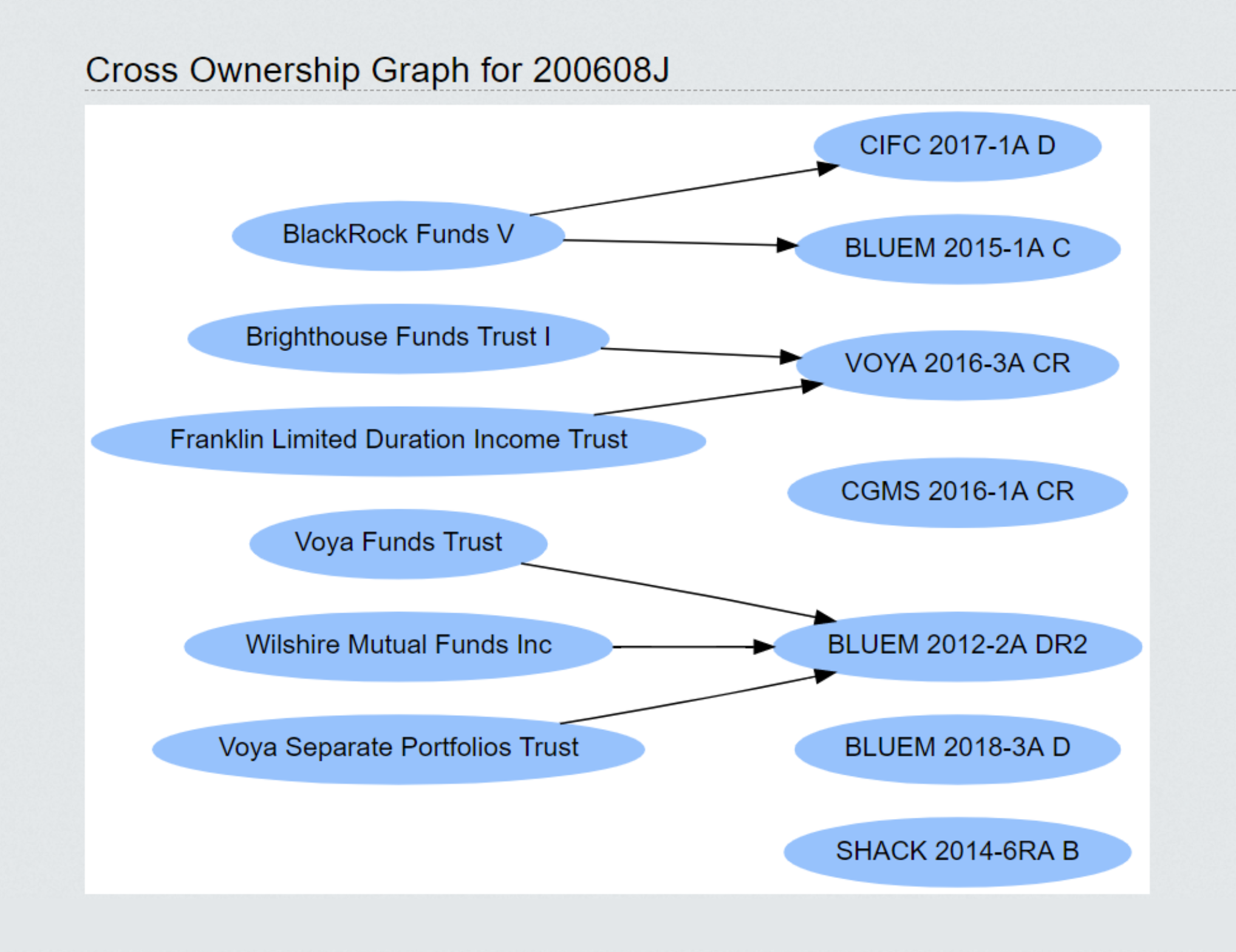 Cross Ownership Map Graph