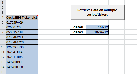 Excel tab to peform bulk searches