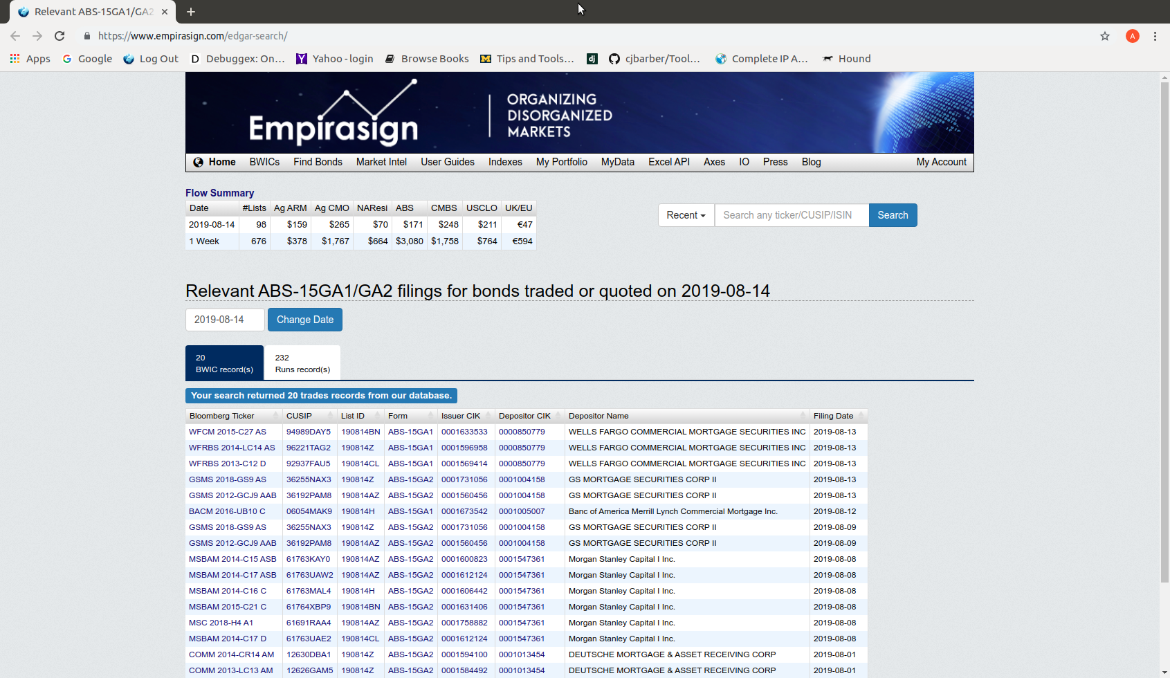EDGAR Filings Search Page